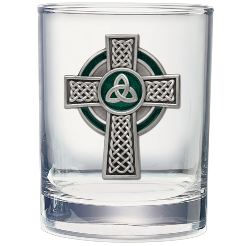 CELTIC CROSS DOUBLE OLD FASHIONED GLASS