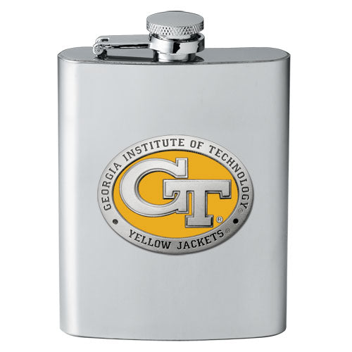 GEORGIA TECH UNIVERSITY GT LOGO FLASK