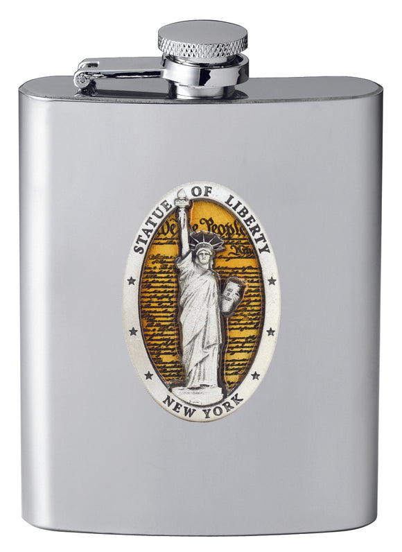 STATUE OF LIBERTY CONSTITUTION FLASK