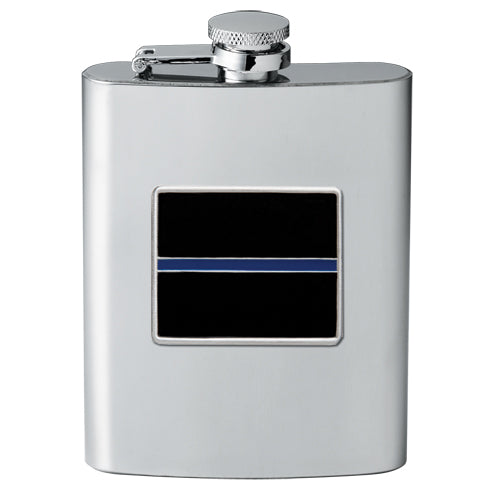 THIN BLUE LINE FLASK