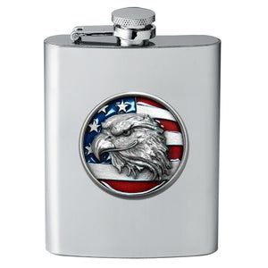 EAGLE HEAD W/ FLAG FLASK