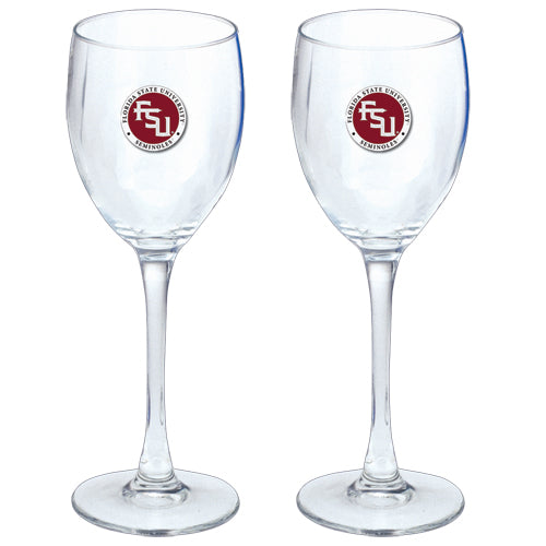 FLORIDA STATE UNIVERSITY FSU LOGO GOBLETS (SET OF 2)