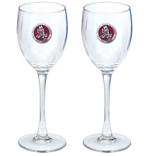 ARIZONA STATE UNIVERSITY SPARKY LOGO GOBLETS (SET OF 2)