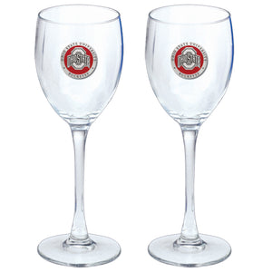 OHIO STATE UNIVERSITY GOBLETS (SET OF 2)