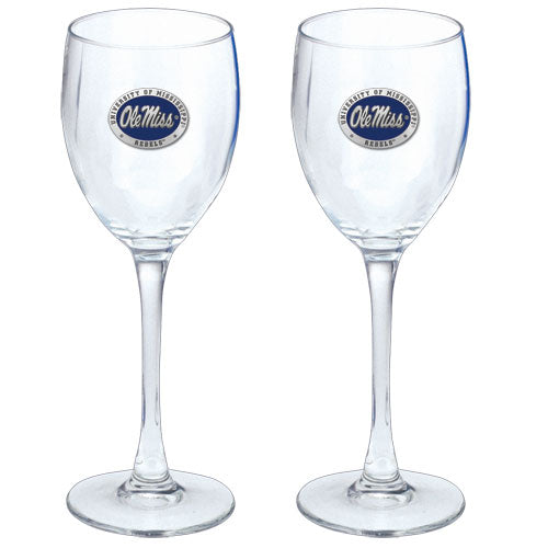 UNIVERSITY OF MISSISSIPPI GOBLETS (SET OF 2)