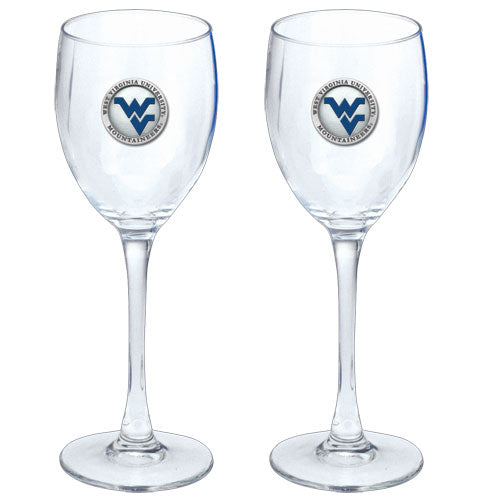 WEST VIRGINIA UNIVERSITY WV LOGO GOBLETS (SET OF 2)