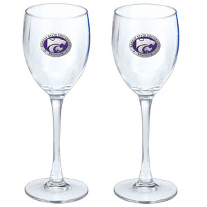 KANSAS STATE UNIVERSITY GOBLETS (SET OF 2)