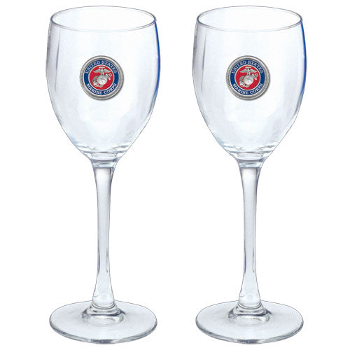MARINE CORPS GOBLETS (SET OF 2)