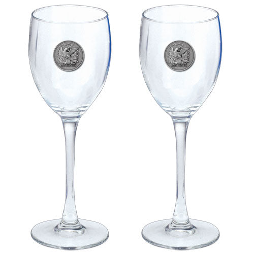 MARINES HISTORIC GOBLETS (SET OF 2)