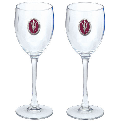 ARIZONA STATE UNIVERSITY PITCH FORK LOGO GOBLETS (SET OF 2)