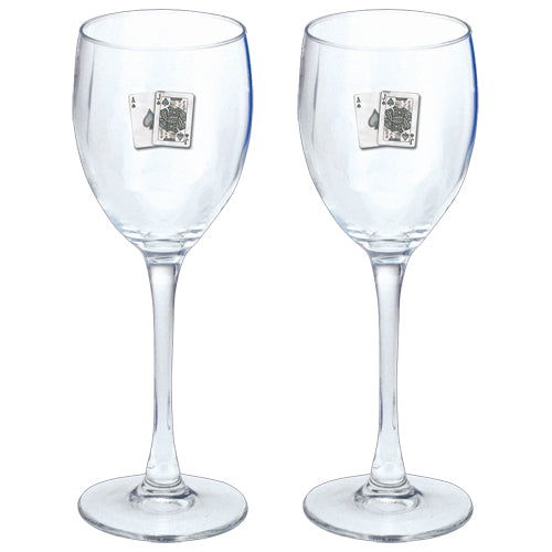 BLACK JACK GOBLETS (SET OF 2)