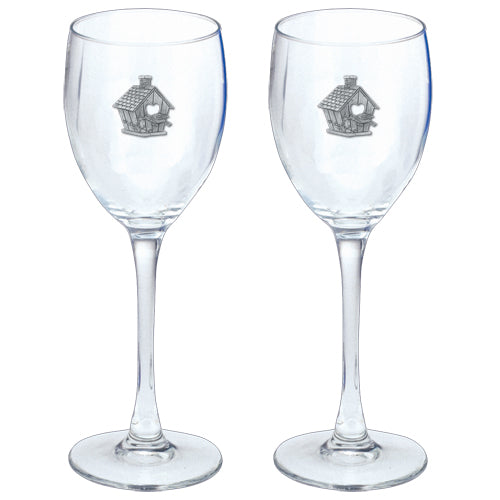 BIRDHOUSE GOBLETS (SET OF 2)