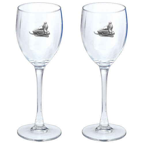 SNOWMOBILE GOBLETS (SET OF 2)