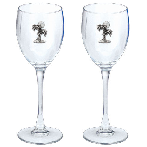 PALM TREE GOBLETS (SET OF 2)