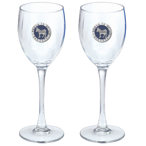 DEMOCRAT GOBLETS (SET OF 2)