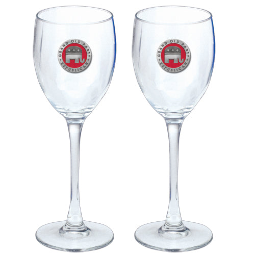 REPUBLICAN GOBLETS (SET OF 2)