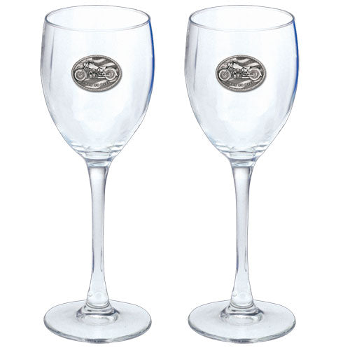 MOTORCYCLE GOBLETS (SET OF 2)