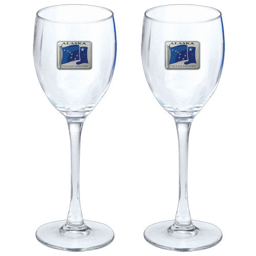 ALASKA FLAG GOBLETS (SET OF 2)