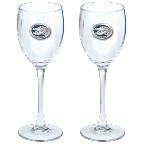 ALLIGATOR W/ FLORIDA GOBLETS (SET OF 2)