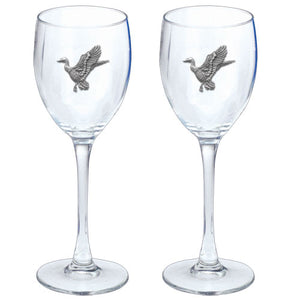 MALLARD DUCKS GOBLETS (SET OF 2)
