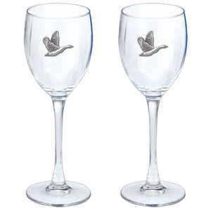 CANADIAN GOOSE GOBLETS (SET OF 2)