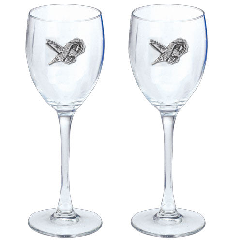 HUMMINGBIRDS GOBLETS (SET OF 2)