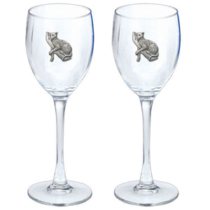 LEOPARD GOBLETS (SET OF 2)