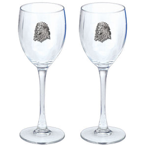LION GOBLETS (SET OF 2)