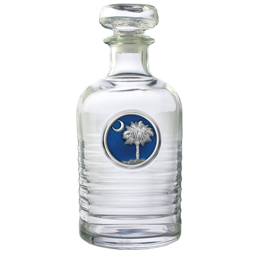 SOUTH CAROLINA PALMETTO GENEVA DECANTER