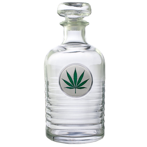MARIJUANA LEAF GENEVA DECANTER