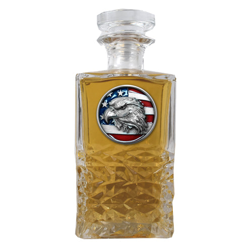 EAGLE HEAD W/ FLAG HERITAGE DECANTER