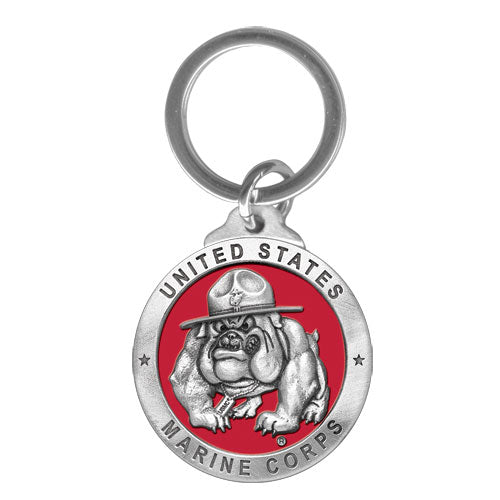 USMC BULLDOG KEY CHAIN