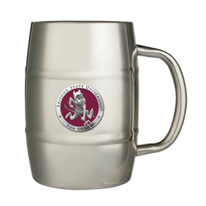 ARIZONA STATE UNIVERSITY SPARKY LOGO KEG MUG