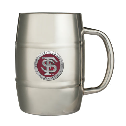 FLORIDA STATE UNIVERSITY FS LOGO KEG MUG