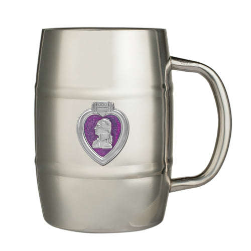 PURPLE HEART KEG MUG