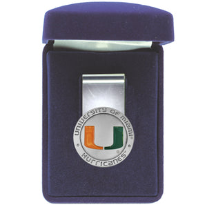 UNIVERSITY OF MIAMI MONEY CLIP