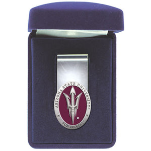 ARIZONA STATE UNIVERSITY PITCH FORK LOGO MONEY CLIP