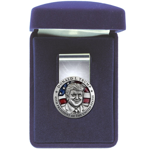 DONALD TRUMP W/ FLAG MONEY CLIP