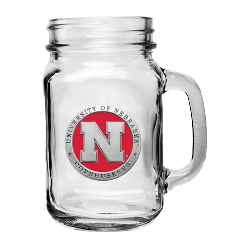 UNIVERSITY OF NEBRASKA MASON JAR MUG