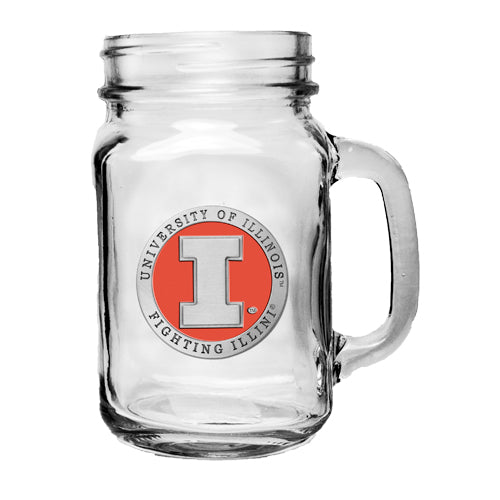 UNIVERSITY OF ILLINOIS MASON JAR MUG