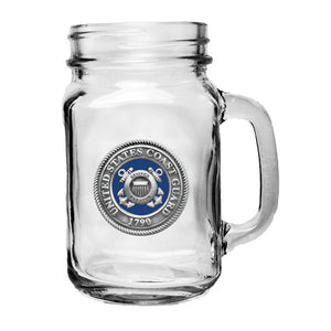 COAST GUARD MASON JAR MUG