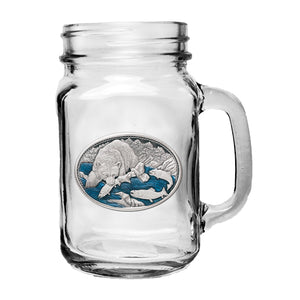 BROWN BEAR MASON JAR MUG