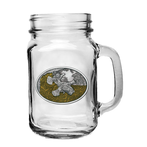 RUFFED GROUSE MASON JAR MUG