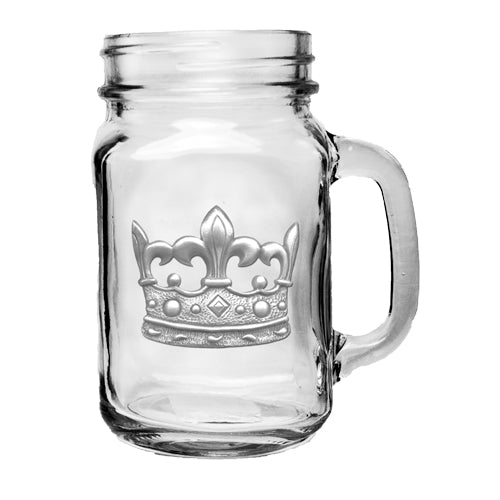 CROWN MASON JAR MUG