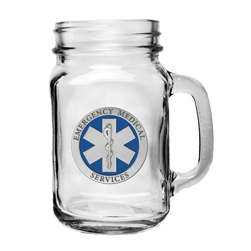 EMERGENCY MEDICAL MASON JAR MUG