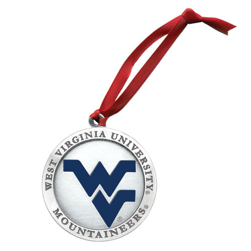 WEST VIRGINIA UNIVERSITY WV LOGO ORNAMENT