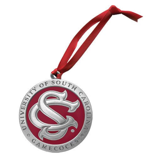 UNIVERSITY OF SOUTH CAROLINA SC LOGO ORNAMENT