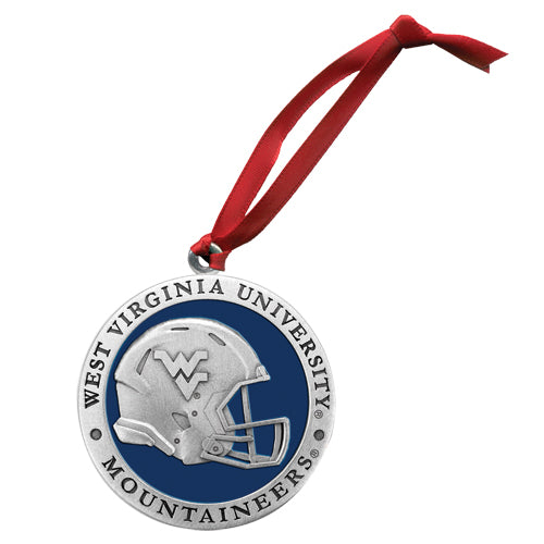 WEST VIRGINIA UNIVERSITY HELMET ORNAMENT