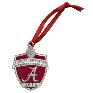 UNIVERSITY OF ALABAMA NATIONAL CHAMPIONS 2015 ORNAMENT