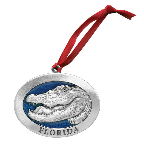 ALLIGATOR W/ FLORIDA ORNAMENT